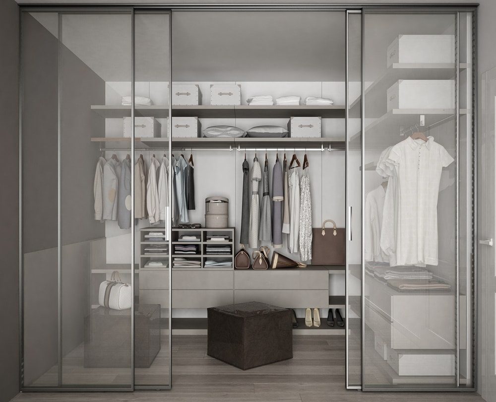 modelos de porta de armário de vidro