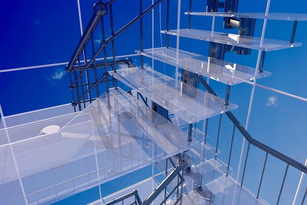 Modelos de escada de vidro