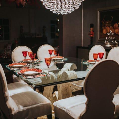 Tampo de Vidros na mesa